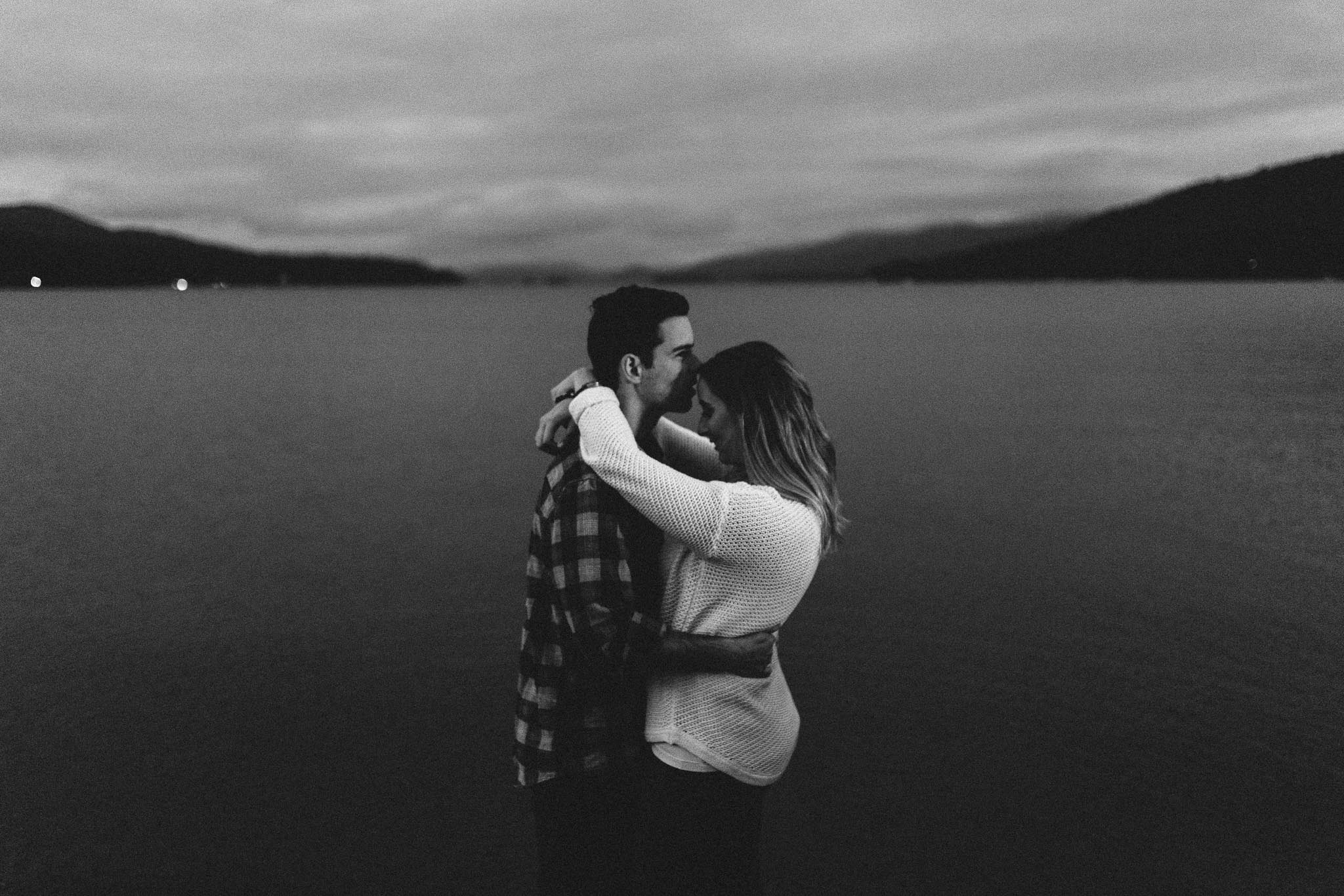 lake george engagement